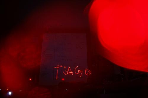 Foto de alta exposição com Laser