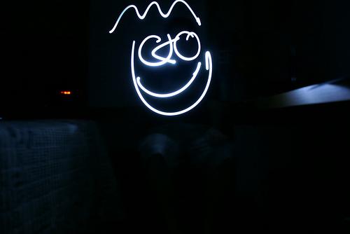 Foto de alta exposição com Lanterna